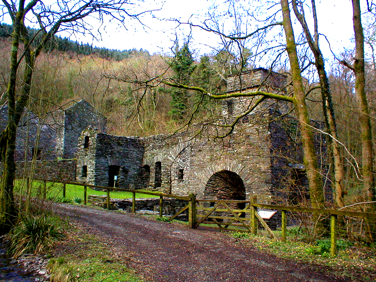 Duddon Iron Furnace set in woodland