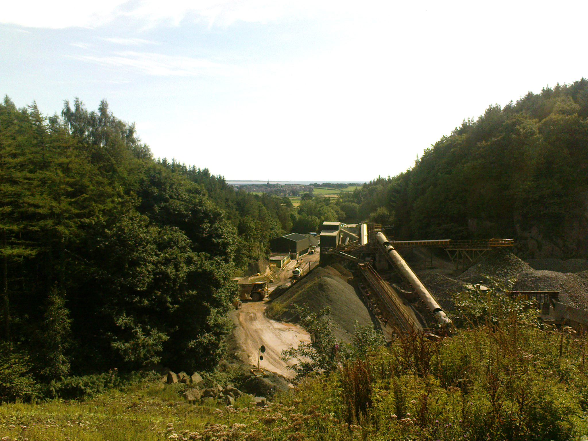 Looking down on Ghyll Scaur Quarry works