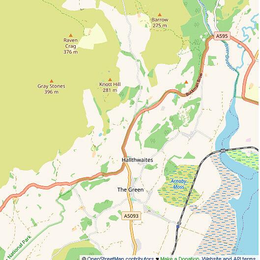 Open source map of part of parish