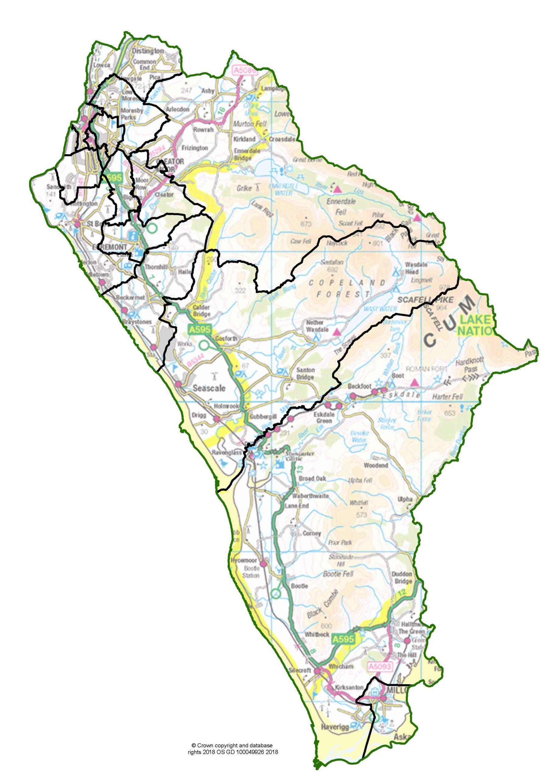 Copeland Borough Map