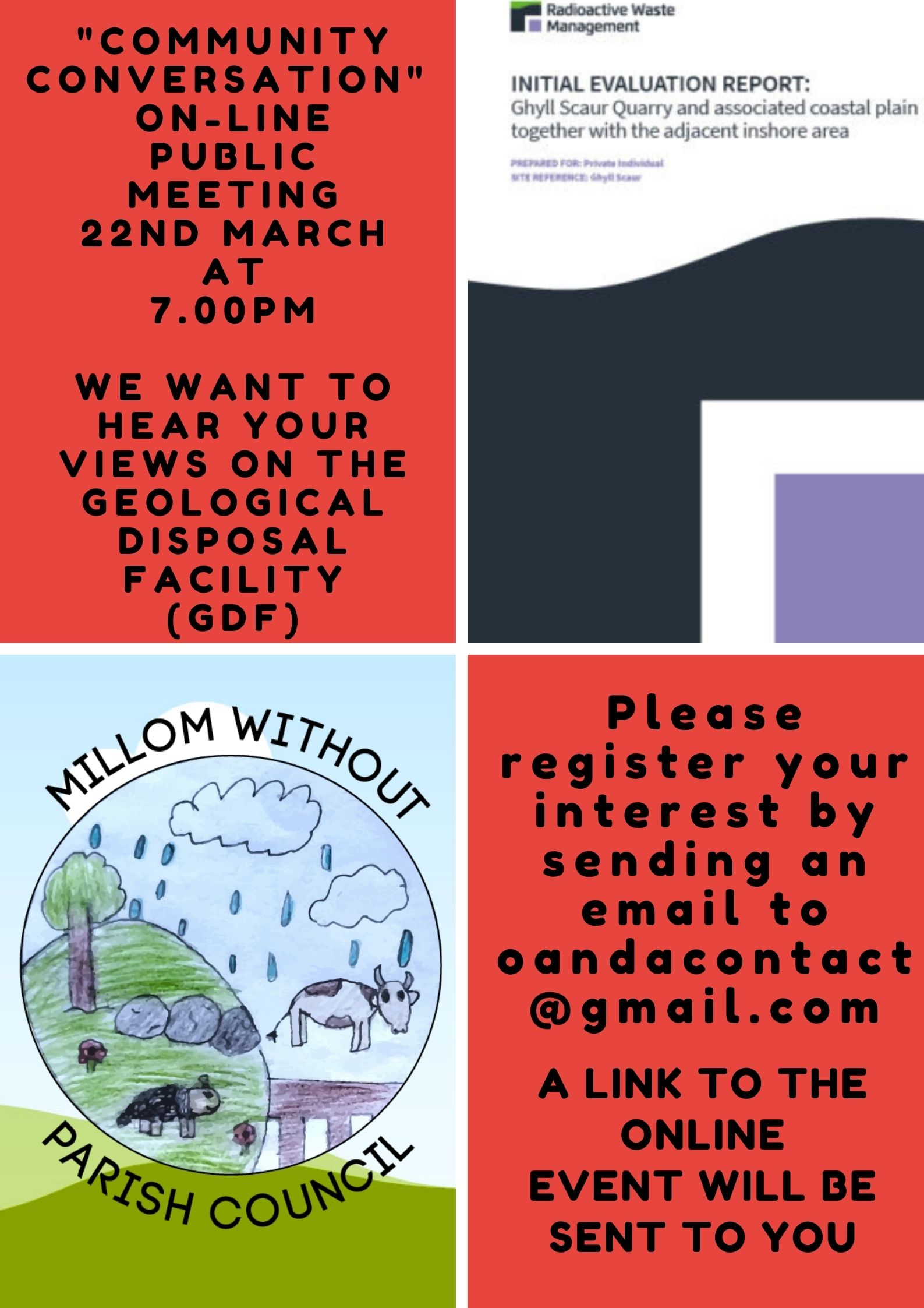 Poster for public meeting to discuss the proposed GDF