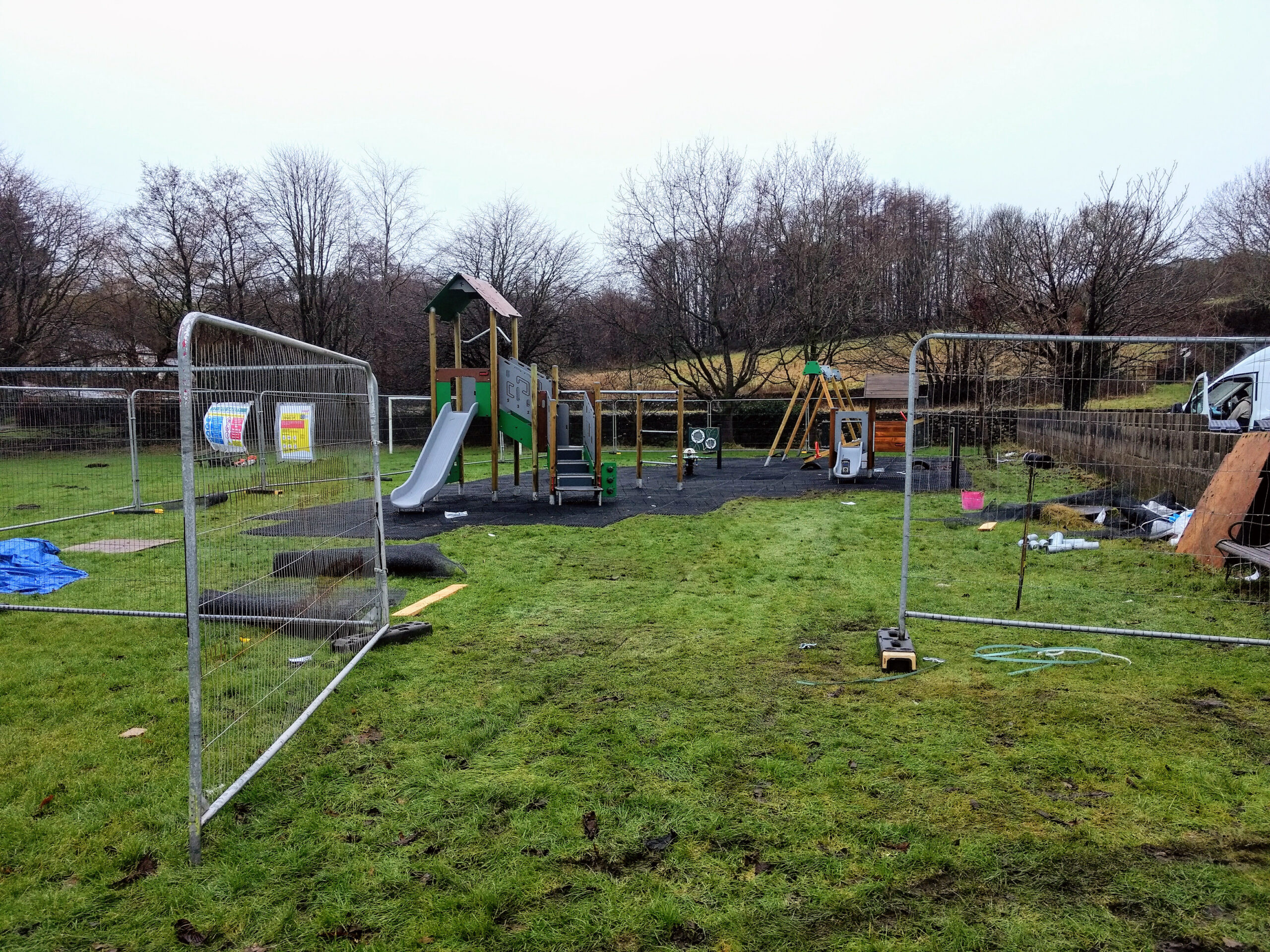 Construction underway at the Play Area with some equipment in-situ