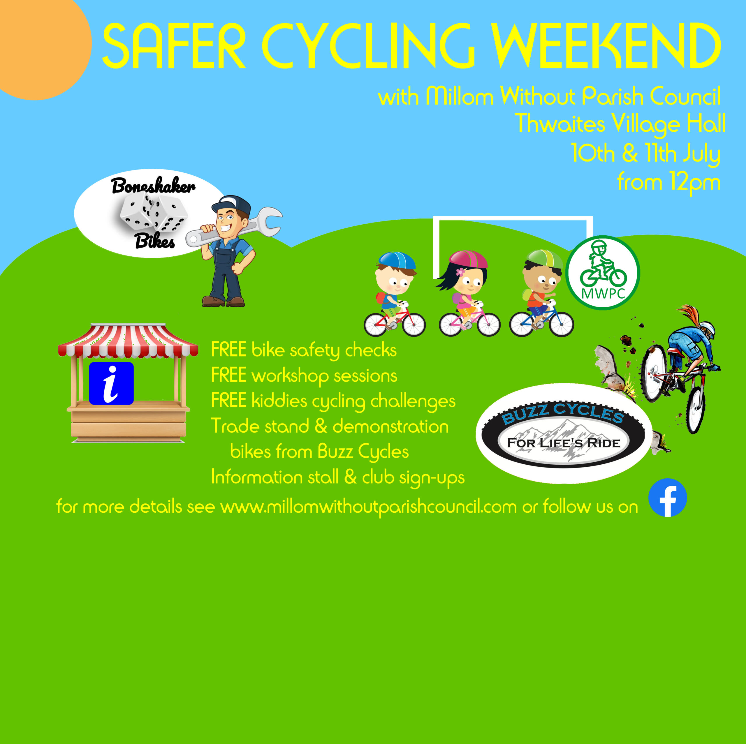 Safer Cycling weekend Website Poster