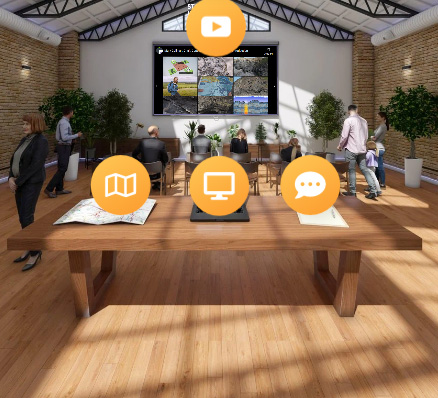 Screen capture of the animated GDF virtual exhibition
