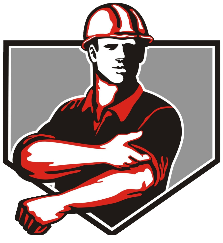 Icon of builder rolling up sleeves
