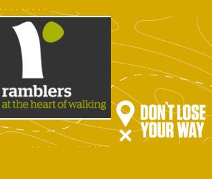 Ramblers Don't Lose Your Way Logo